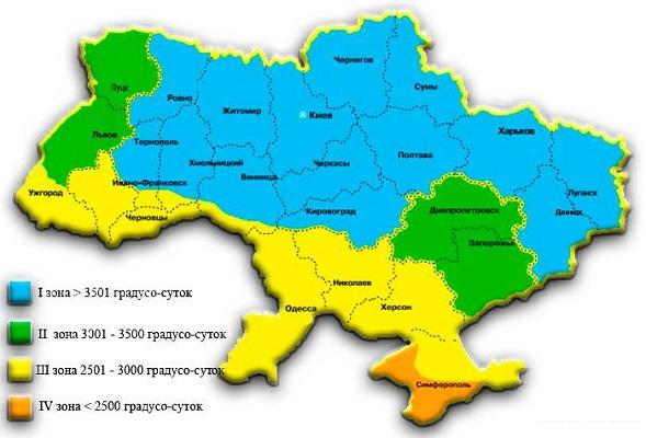 Климатические зоны Украина